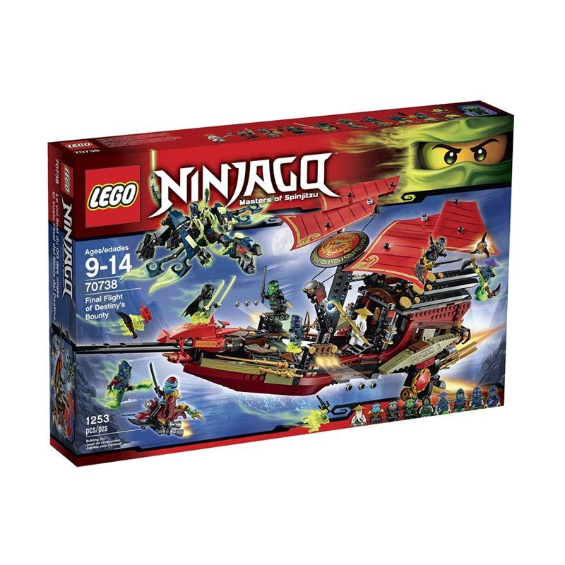 LEGO Final Flight of Destiny's Bounty 70738 Mainan Blok & Puzzle