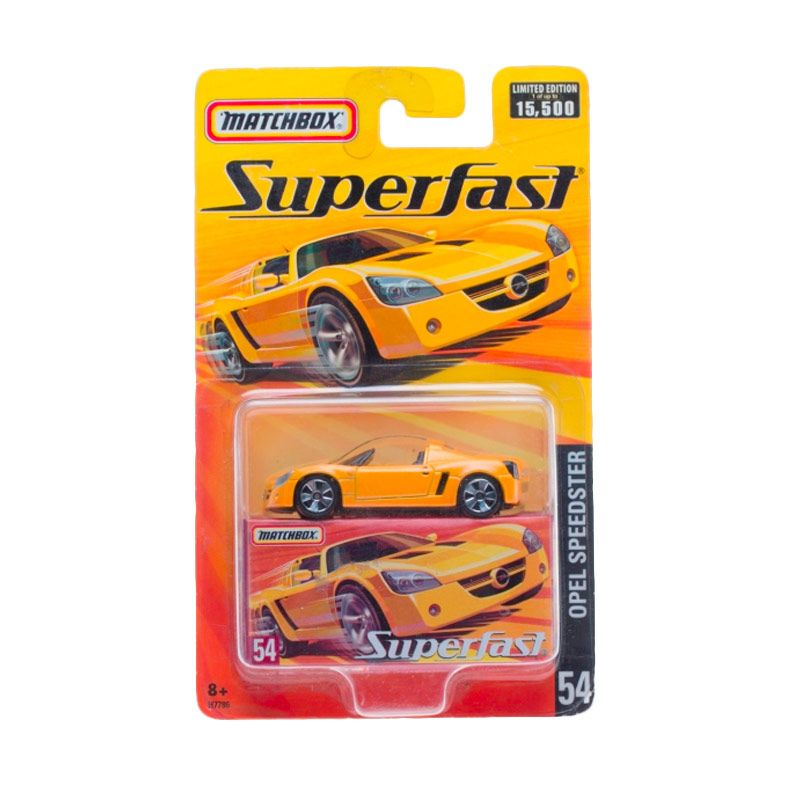 Matchbox Superfast Opel Speedster Yellow Diecast