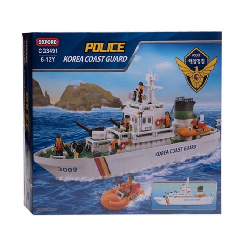 Oxford Coast Guard Vessel CG3491 Mainan Blok dan Puzzle
