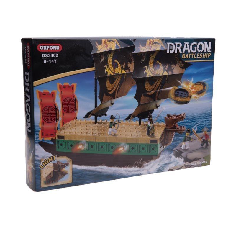 Oxford Green Dragon Battleship DS3402 Mainan Blok dan Puzzle