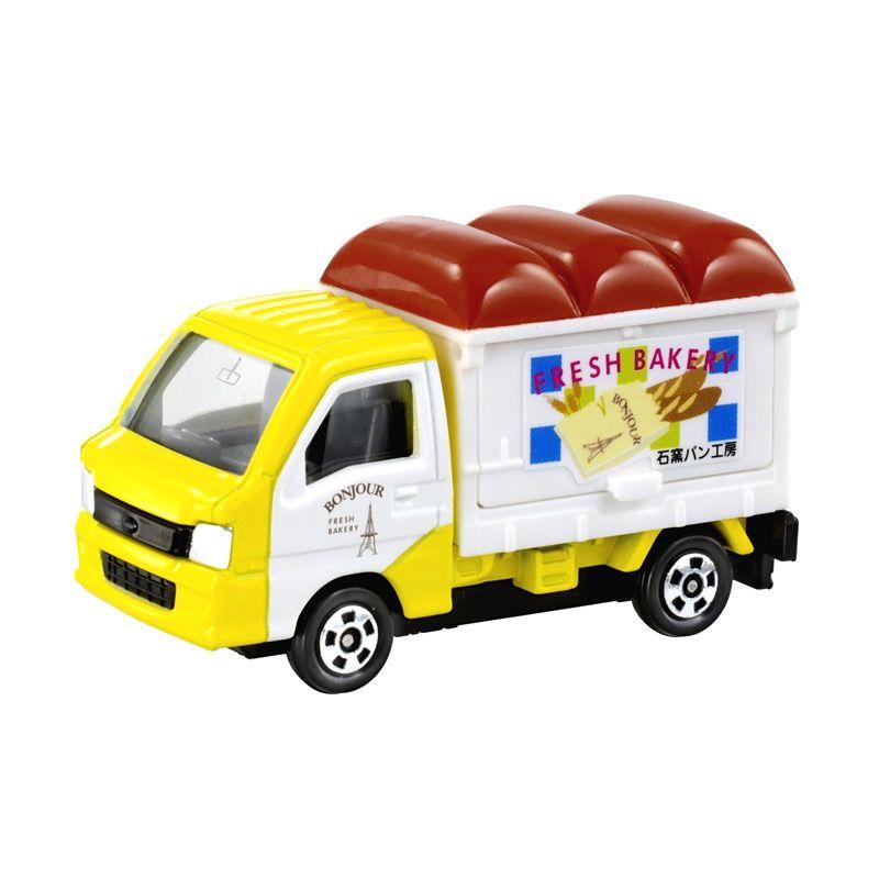 Tomica 10 Subaru Samber Bakery Yellow Diecast