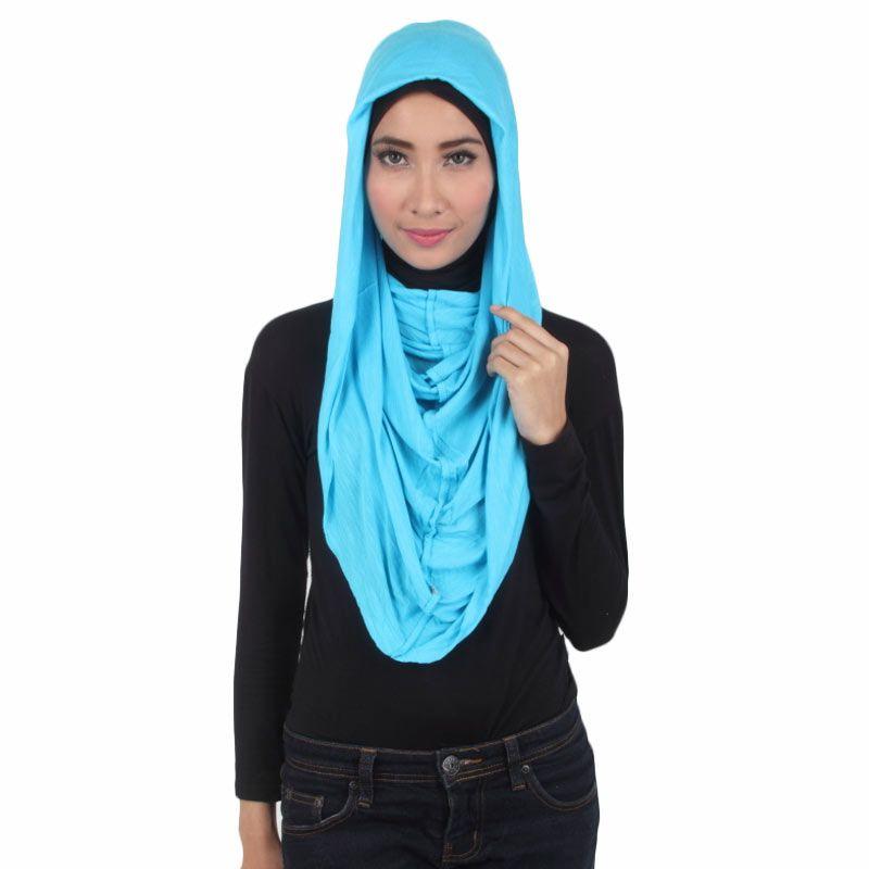 House of Deyna 2-in-1 Hijab Syar'i Light Blue