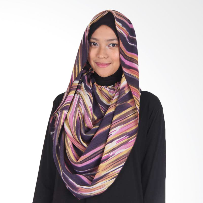 House of Deyna Chiffon Tubular Hijab Colorful Stripes