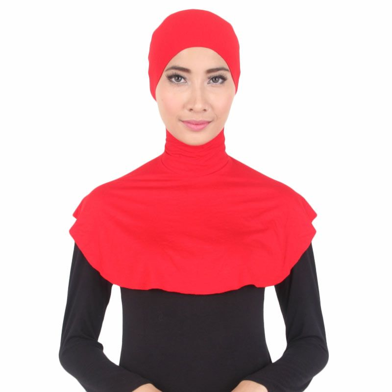 House of Deyna Inner Kerudung Zipper Full Covered Bright Red