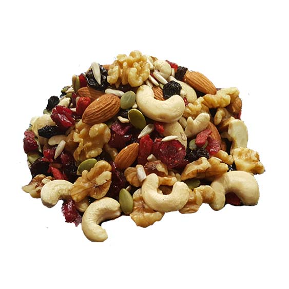 House Of Organix Raw Trail Mix Mixed Nuts Cemilan Sehat 150 g