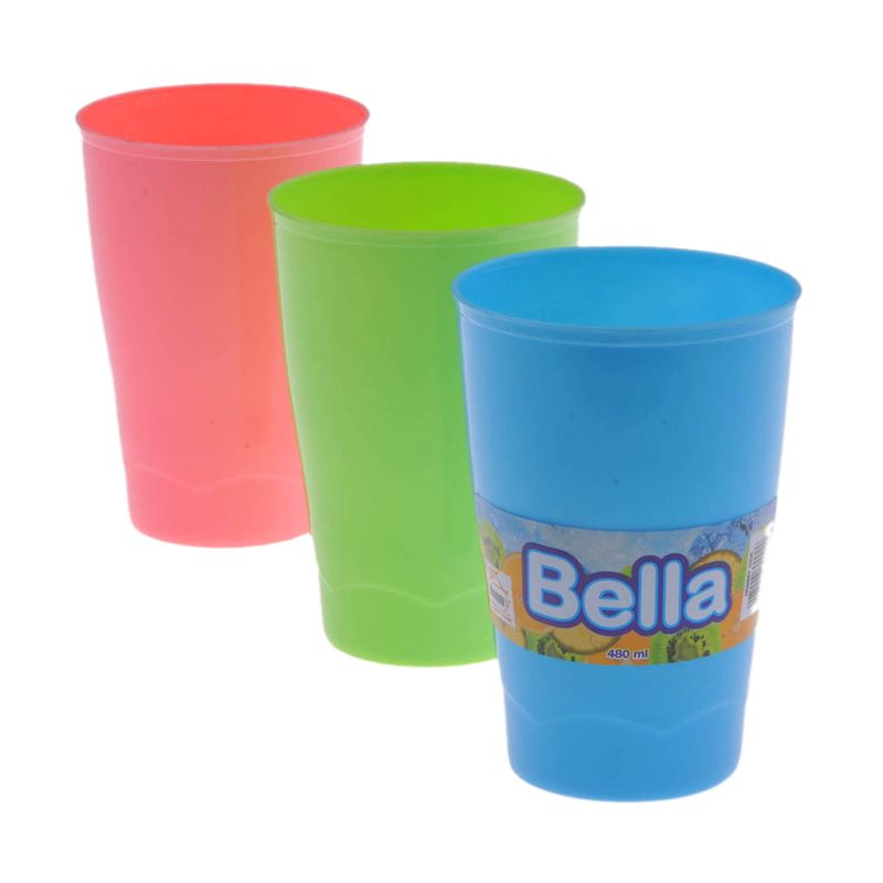 Hommy Bella Multicolor Gelas [480 mL/6 Pcs]