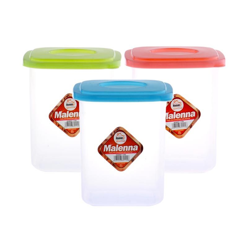 Hommy Malenna XL 1105 Multicolor Sealware Set Tempat Penyimpanan Makanan [720 mL/6 Pcs]
