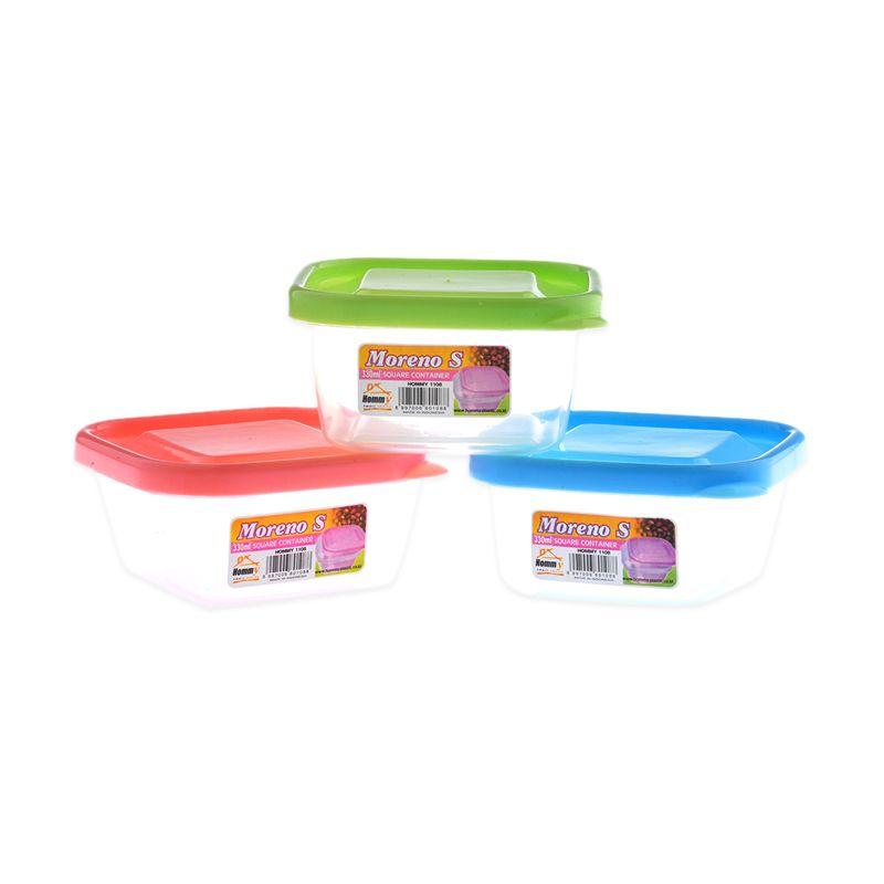 Hommy Sealware Moreno Tempat Penyimpanan Makanan [330mL/6pcs]