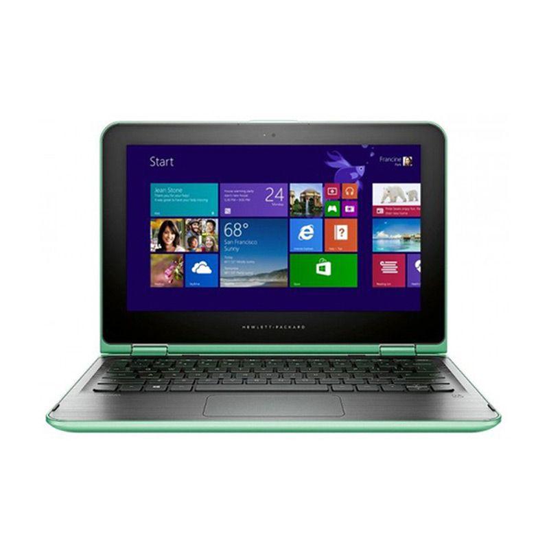 HP Pavilion X360 11-K028TU Hijau Notebook [Intel N3050/4 GB/11.6 Inch]