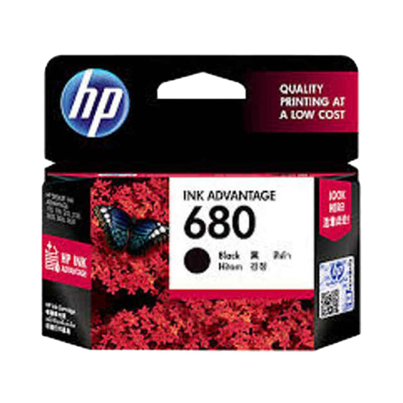 HP 680 Black Original Ink Cartridge - Hitam