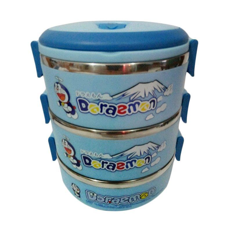 Doraemon Biru Kotak Makan [3 Susun]