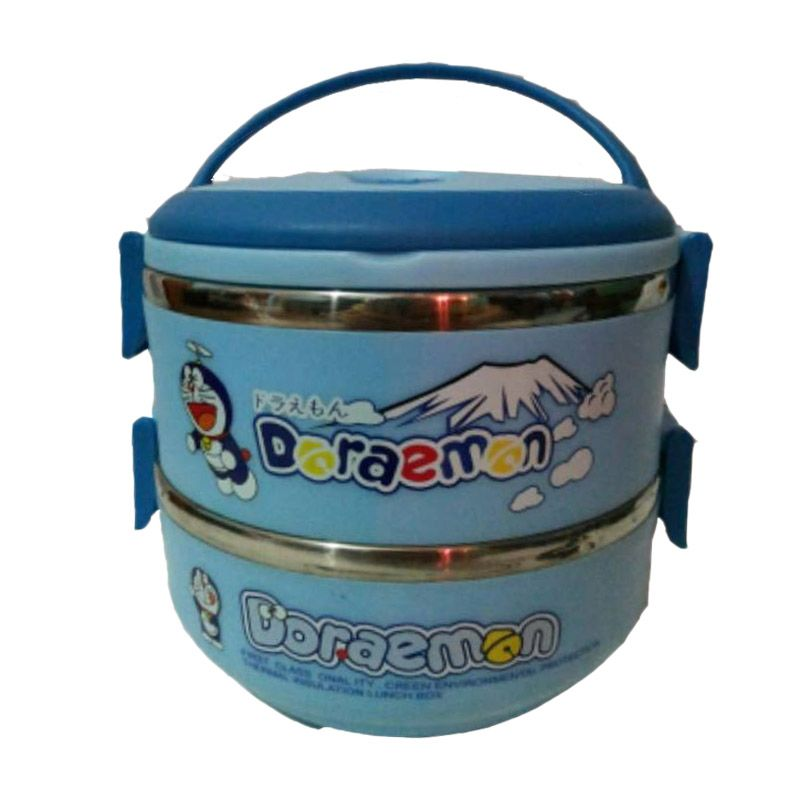 Doraemon Lunch Box Biru Kotak Makan [2 Susun]