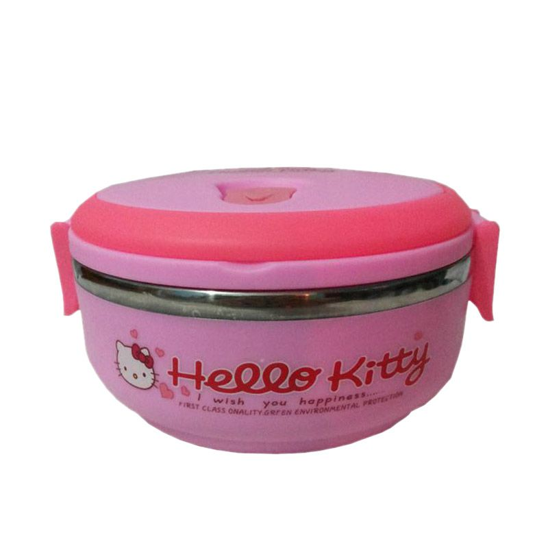 Hello Kitty Lunch Box Pink Kotak Makan [1 Susun]