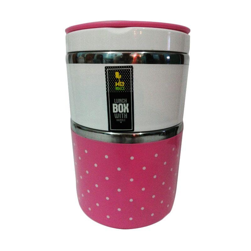 Homio Pink Kotak Makan [2 Susun]