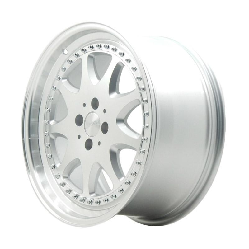 harga HSR Wheel Brabus JD9016 Silver Machine Face & Lip+Chrome Rivets Velg Mobil [Ring 17x75 H4x100 ET45] Blibli.com