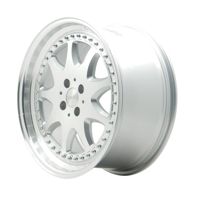 harga HSR Wheel Brabus JD9016 Silver Machine Face & Lip+Chrome Rivets Velg Mobil [Ring 17X75 H4x114,3 ET45] Blibli.com