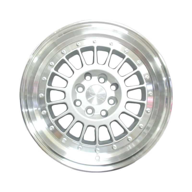 harga HSR Wheel Hype JD923 Silver Machine Lip+Chrome Rivets Velg Mobil [Ring 17x7 H8x100-114,3 ET40] Blibli.com
