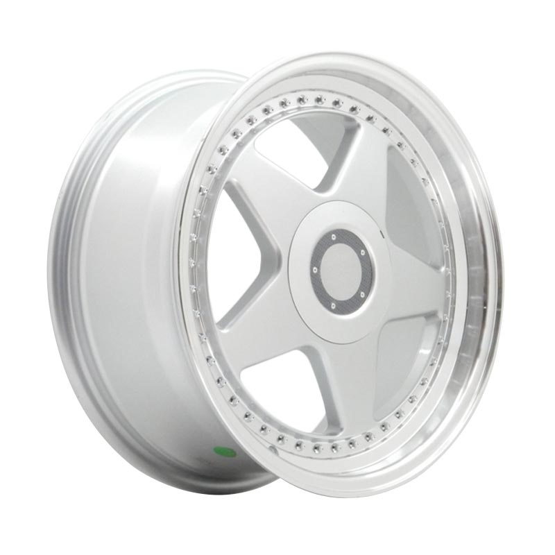 harga HSR Wheel OZ FTR JD08 Silver Machine Lip+Chrome Rivets Velg Mobil [Ring 17x75/85 H8x100/114.3 ET45/38] Blibli.com