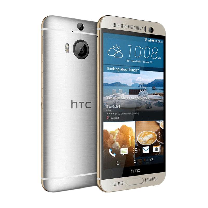 HTC One M9 Plus Smartphone - Silver Gold [32GB/ 3GB/ Garansi Resmi]