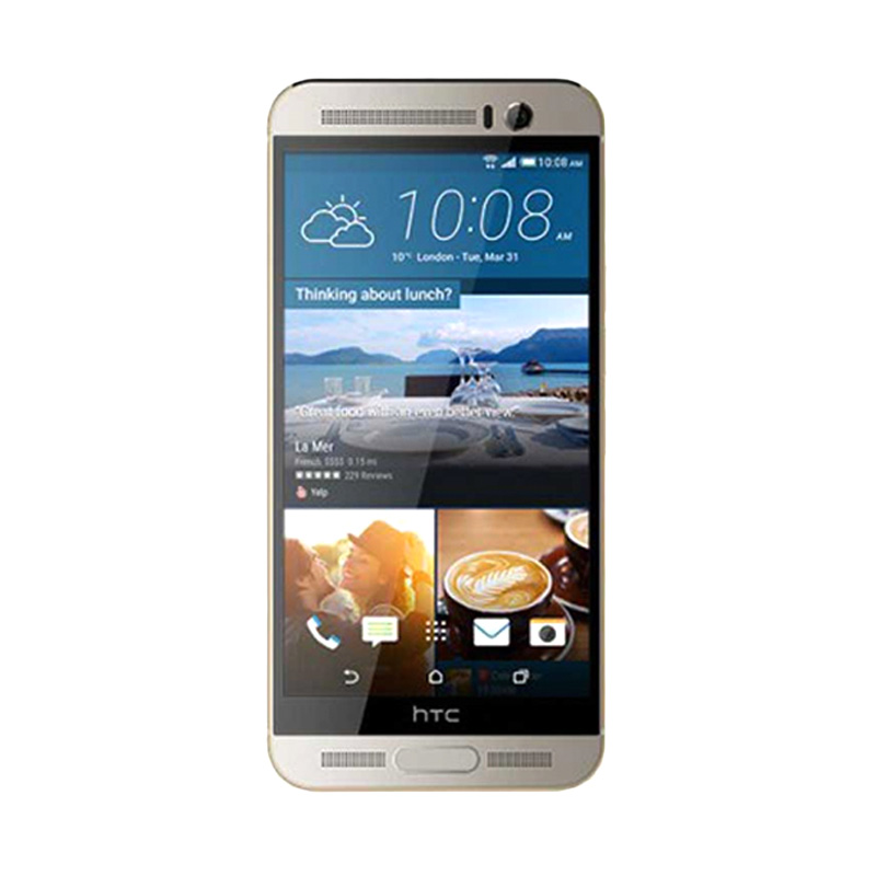 HTC One M9 Plus Gold on Silver Smartphone [32 GB/3GB RAM]