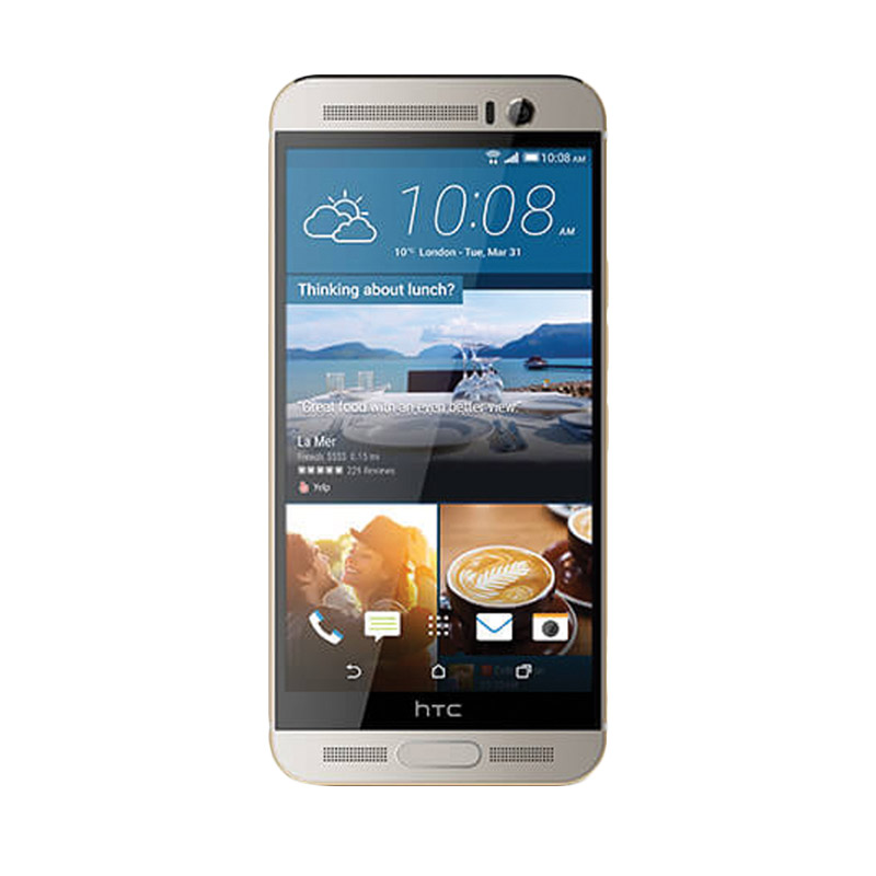 HTC One M9 Plus Smartphone - Gold on Silver