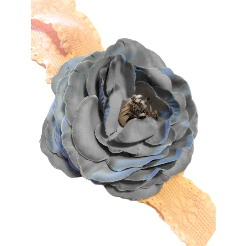 Hugme Tite Grey Flower Headband