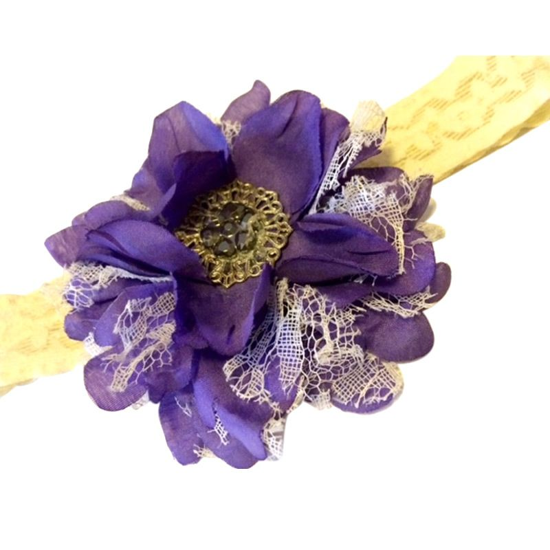 Hugme Tite Purple Flower Headband