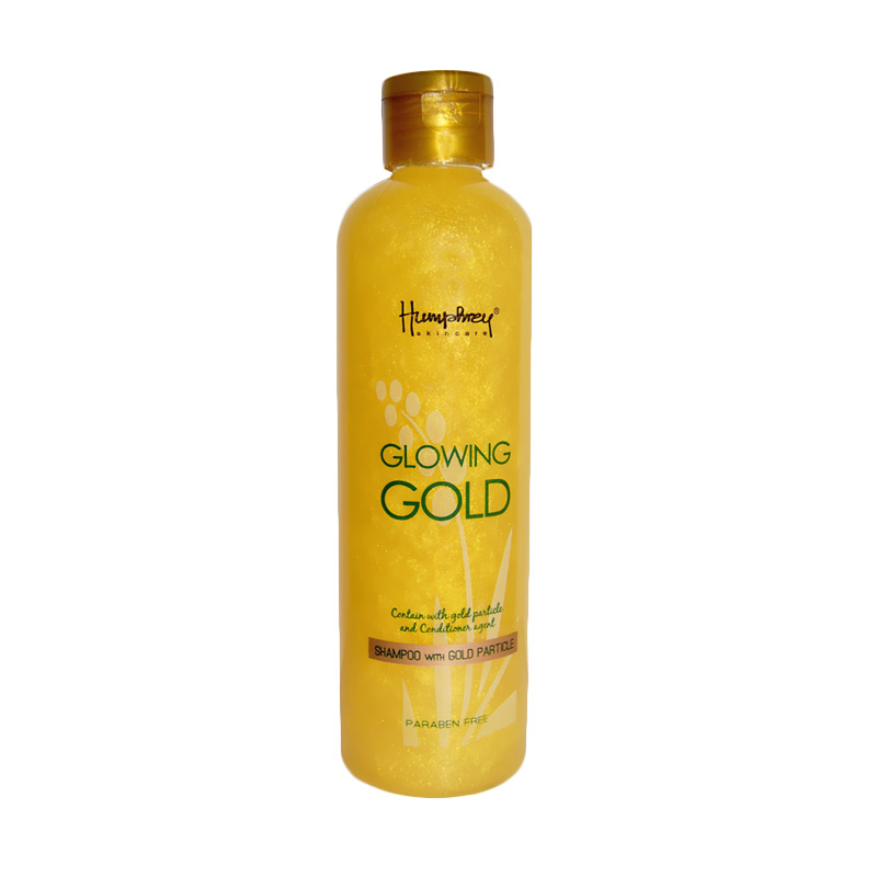 Humphrey Skin Care Glowing Gold Shampoo with Gold Particle