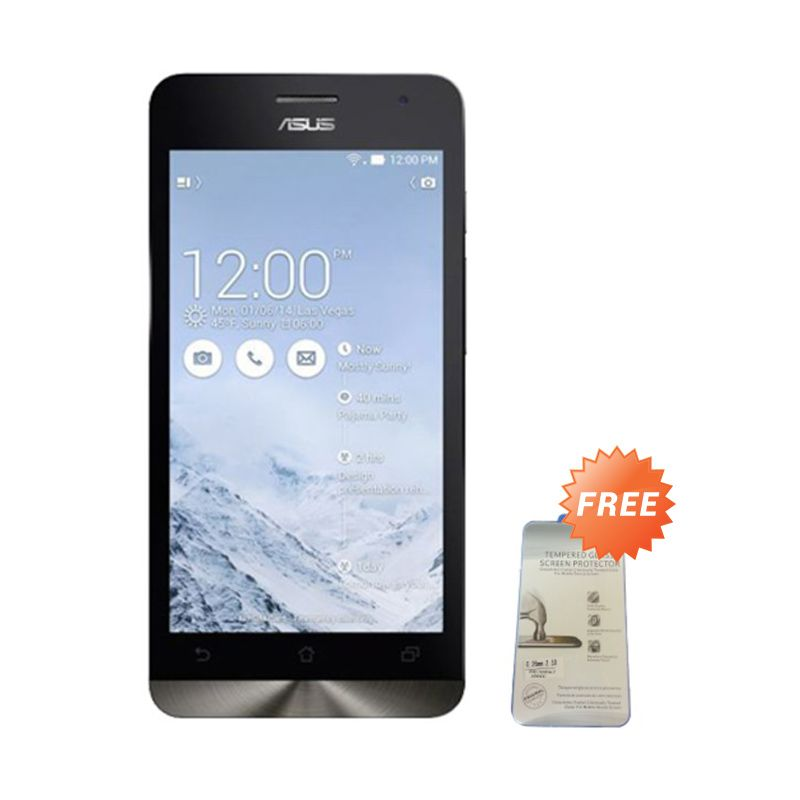 Asus Zenfone 2 ZE551ML Silver Smartphone [RAM 4 GB - ROM 32 GB] + Tempered Glass Screen Protector