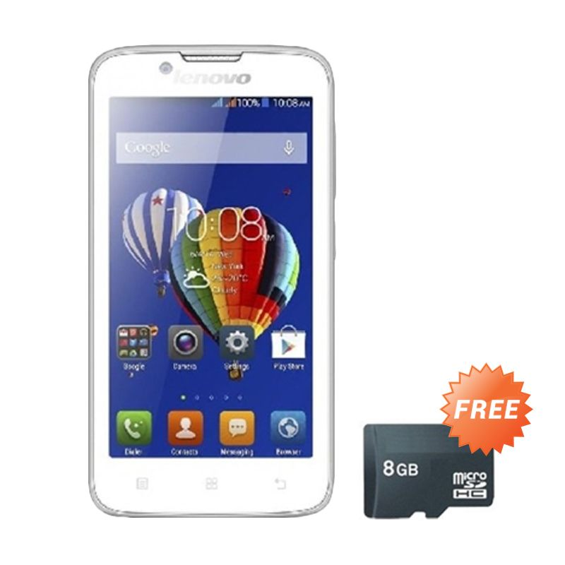 Lenovo A850 White Smartphone [4 GB] + Memory Card 8 GB