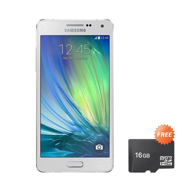 Samsung Galaxy A3 A300H Silver Smartphone [16 GB/RAM 1 GB] + Memory Card