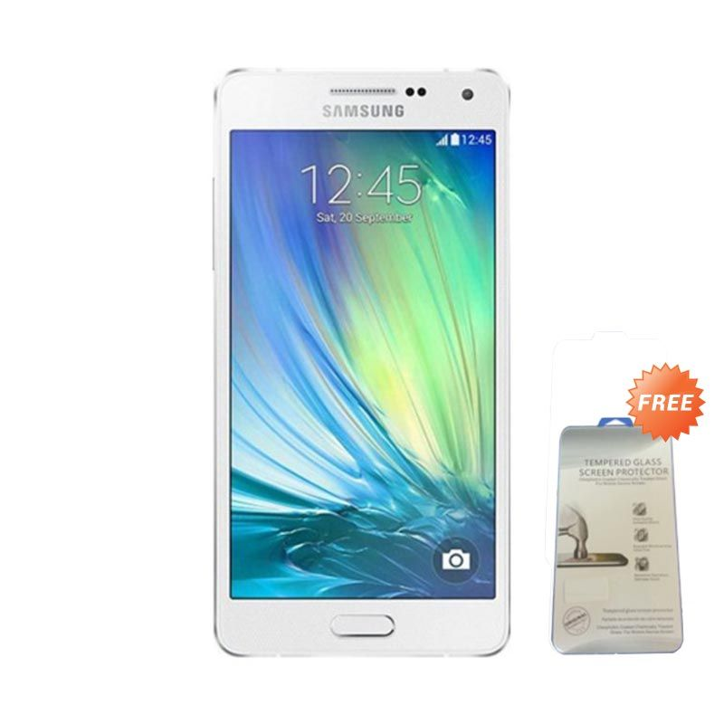 Samsung Galaxy A5 A500 White Smartphone [16 GB/RAM 2 GB] + Tempered Glass Screen Protector