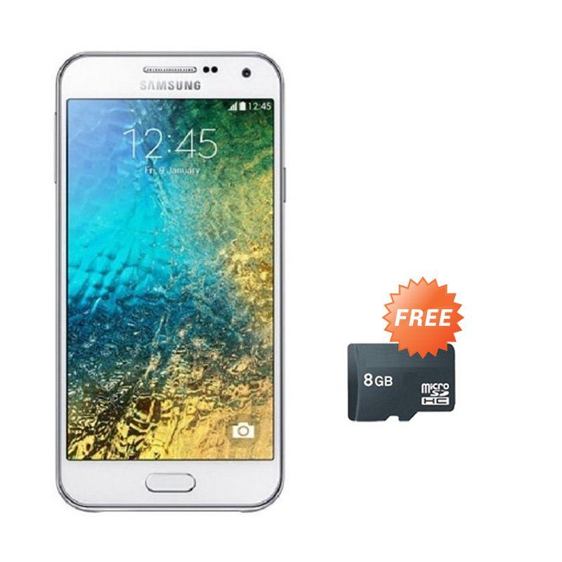 Samsung Galaxy E5 SM-E500H White Smartphone [1.5 GB/16 GB] + Micro SD 8 GB
