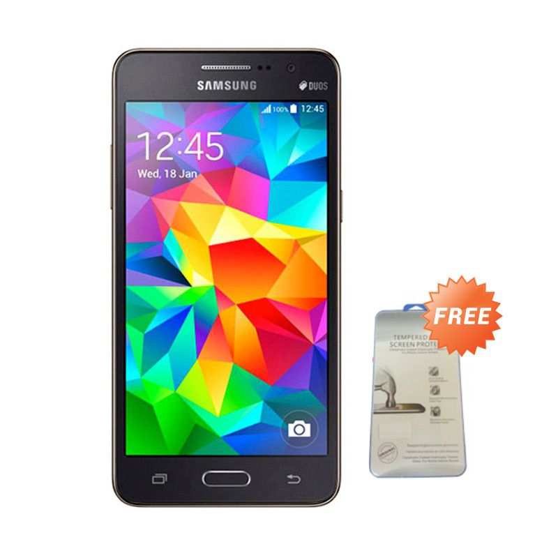 Samsung Galaxy Prime Plus SM-G531H DS Hitam Smartphone [RAM 1 GB /ROM 8 GB] + Tempered Glass