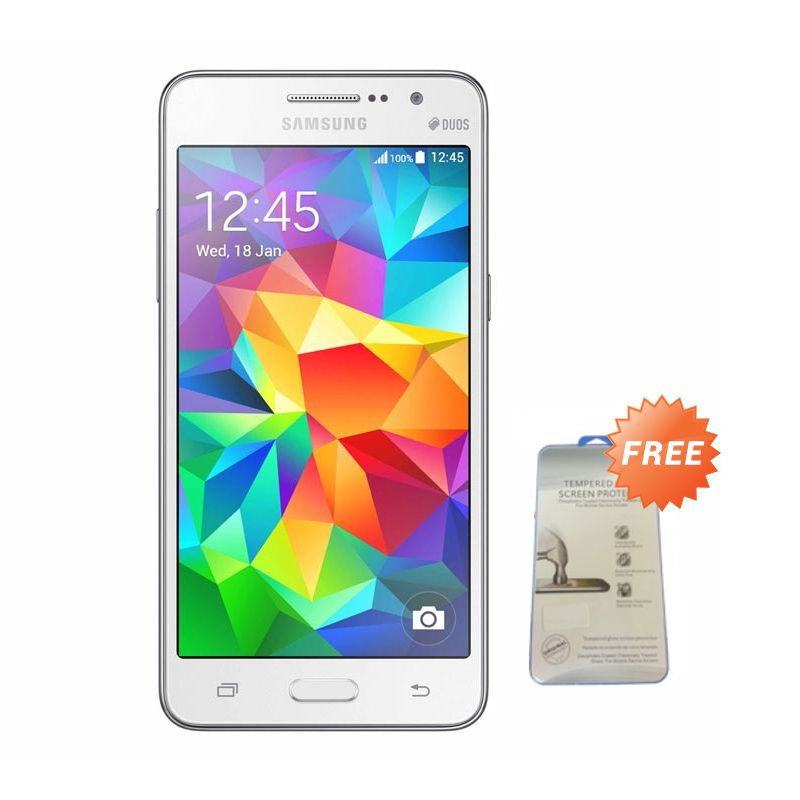 Samsung Galaxy Prime Plus SM-G531H DS Putih Smartphone [RAM 1 GB /ROM 8 GB] + Tempered Glass