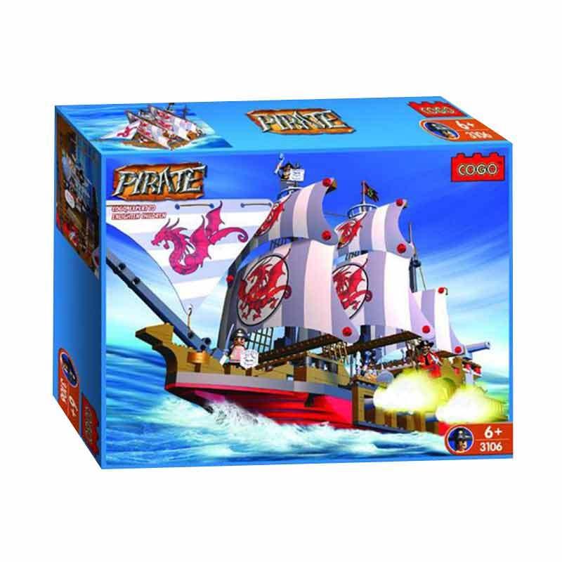COGO Pirates Ship - Red
