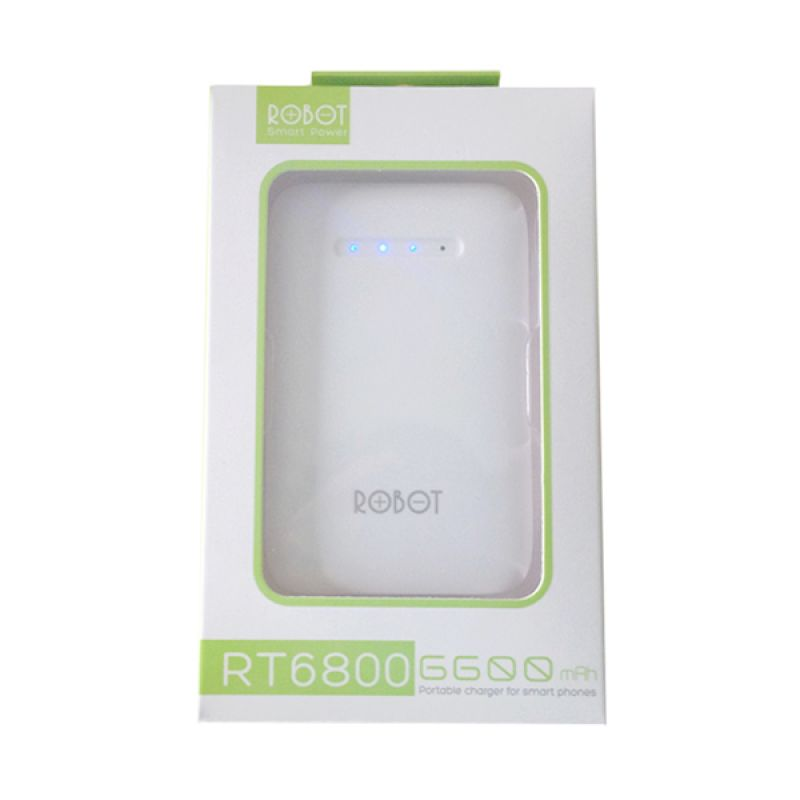 Robot RT6800 Putih Powerbank [6600 mAh]