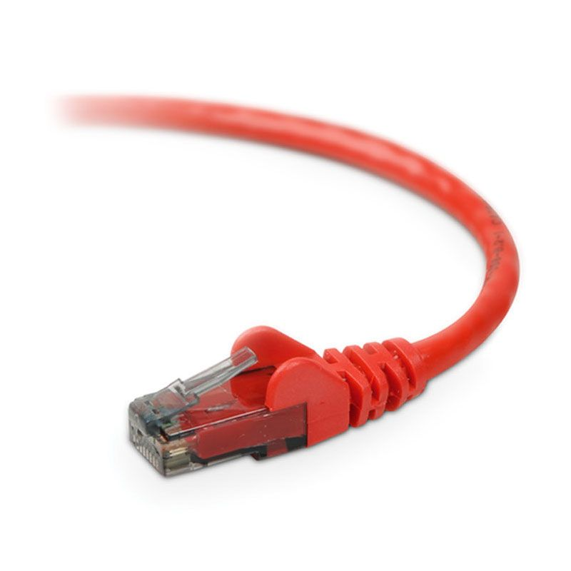 Belkin UTP Cat 6 Patch Cord Red 3 Feet (1 Meter)