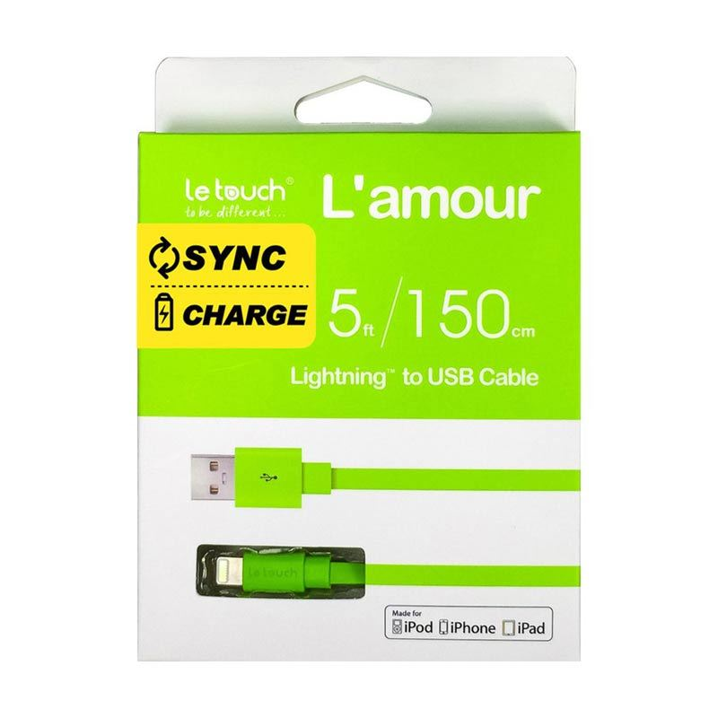 LeTouch Lamour Sync Charge Hijau USB Data Cable [1.5 m]