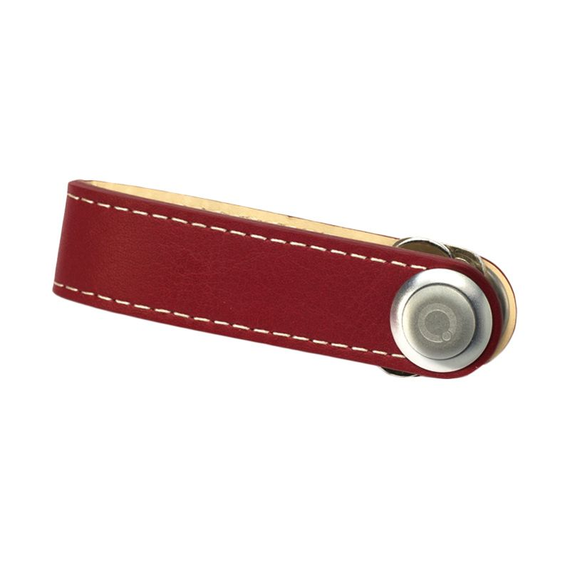 Orbitkey Leather with Stitching Red White Gantungan Kunci