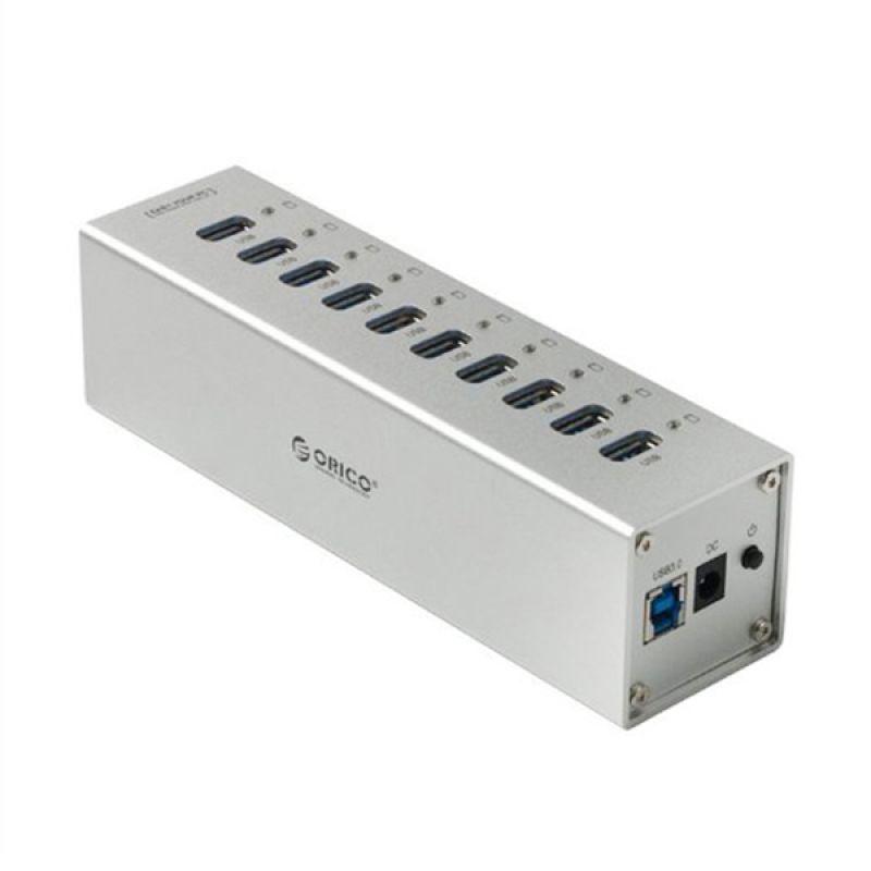 Orico A3H10 10 Ports USB HUB - Silver