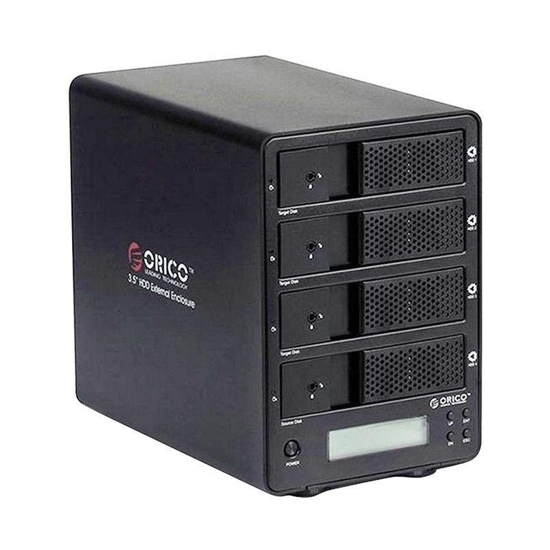 Orico Aluminum Super Speed 4 Bay SATA Hard Driver & Support RAID Cloning 9548RUS3-C Hitam HDD Enclosure [USB 3.0/3.5 Inch]