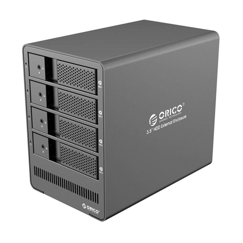 Orico Aluminum Super Speed 4 Bay SATA Hard Driver 9548U3 Hitam HDD Enclosure [USB 3.0/3.5 Inch]