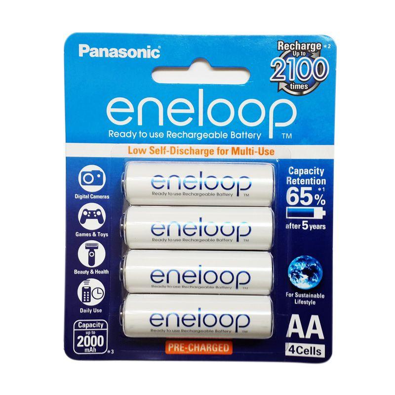 Panasonic Eneloop Baterai AA 2000mAh 4 pcs - Putih