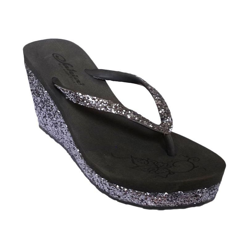 Sakia Haiti Grey Wedges Sandal