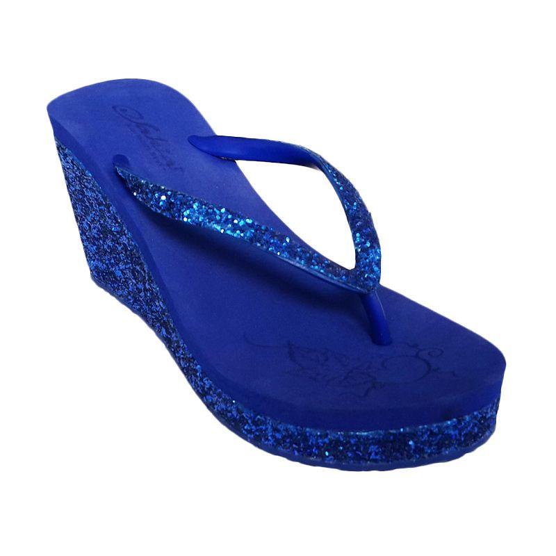 Sakia Haiti Wedges R.Blue Sandal Wanita