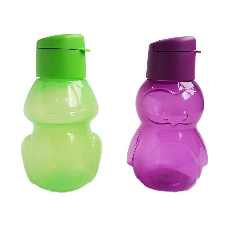 Tupperware Eco Bottle Kids Green Purple Botol Minum [2 Pcs]