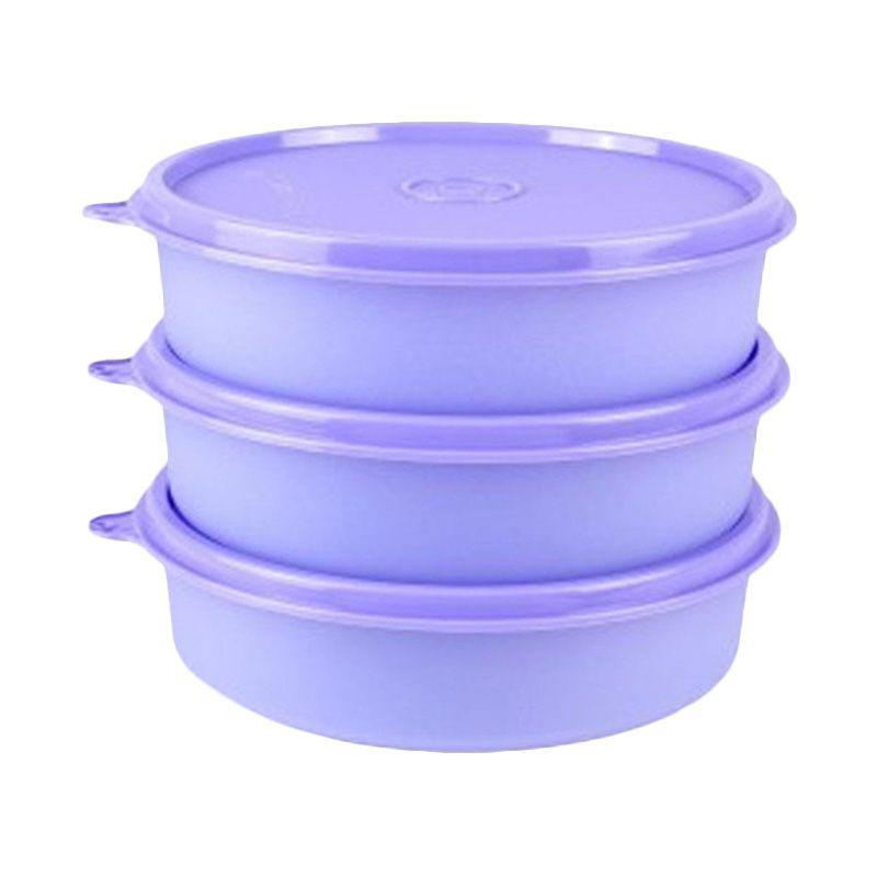 Tupperware Large Handy Bowl Ungu Tempat Penyimpanan Makanan [3 Pcs]