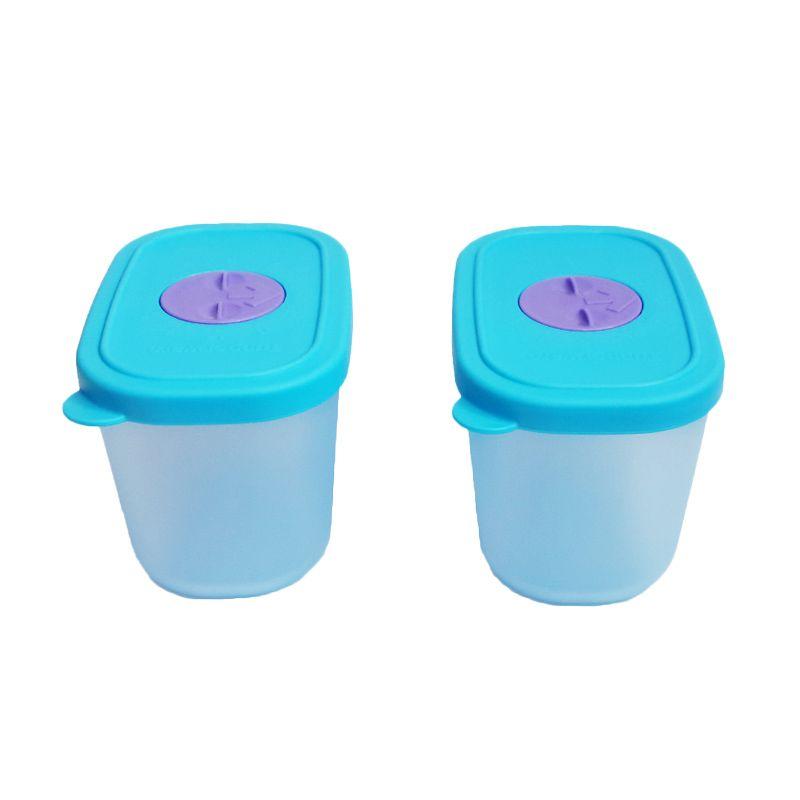 Tupperware Mini Freezermate with Dial Biru Toples [2 Pcs]