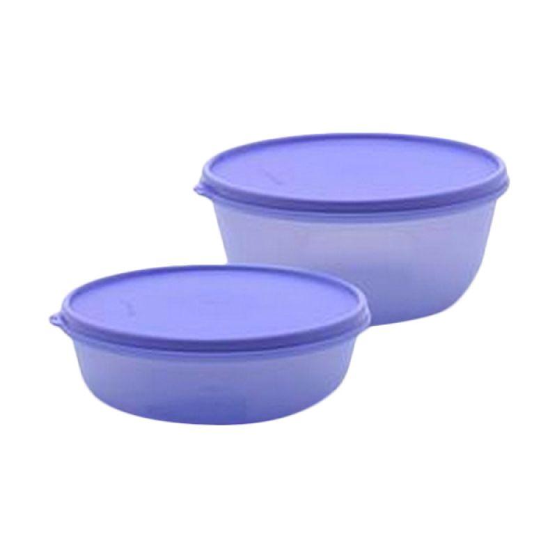 Tupperware Modular Bowl Set Ungu Tempat Penyimpanan Makanan [2 Pcs]